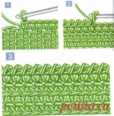 Отделка краев вязаного изделия крючком - ХаниХобби