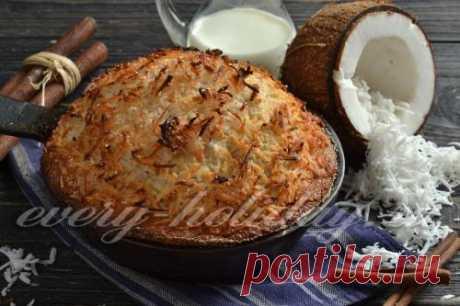 Кокосовый пирог со сливками, рецепт с фото