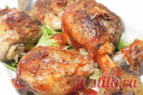 Куриные ножки в духовке (медленного приготовления)