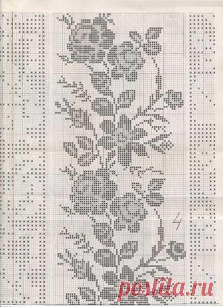 Вышивка крестом ... подборка цветочно-орнаментальная (34 схемы + доп материал)
