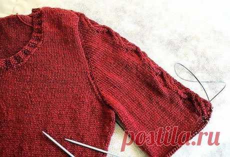 Вязание-спицы>Учимся вязать рукав сверху