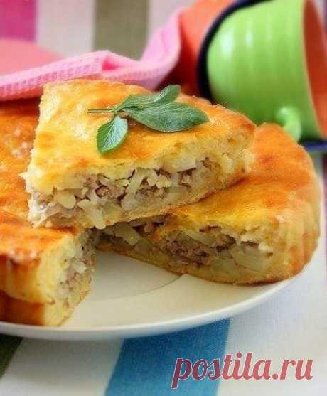Мясной пирог с картофелем - на сытный ужин