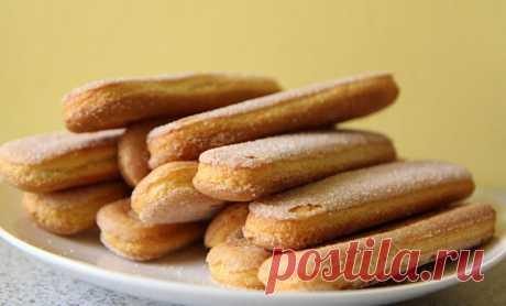 """Домашнее печенье """"Савоярди"""" — Sloosh – кулинарные рецепты"""