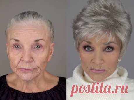 80-летняя женщина воссоздает свое молодое лицо: макияж MAKEOVERGUY®