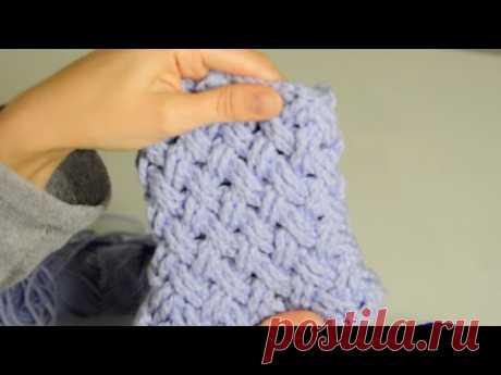 "Узор крючком  для юбки ""Плетеная корзина"" - YouTube"