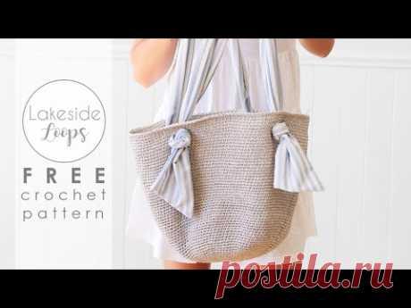 Spencer Market Bag FREE Crochet Pattern Video Tutorial