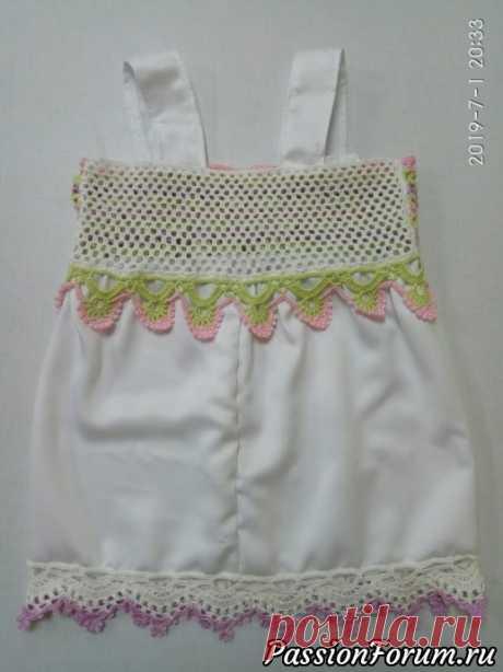 Летний топ для девочки крючком   Детская одежда крючком. Схемы