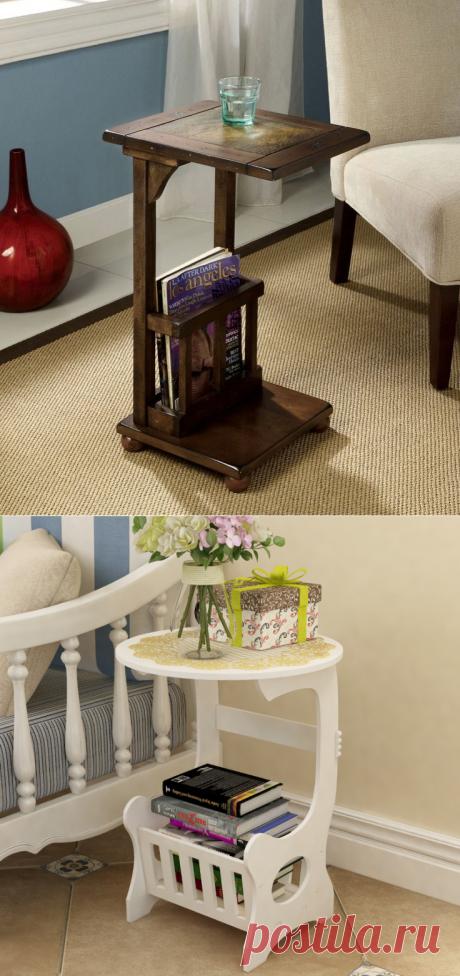 Самодельный столик-этажерка в гостиную за сущие копейки