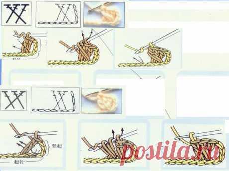 Условные обозначения вязания крючком. Из японского журнала. 2