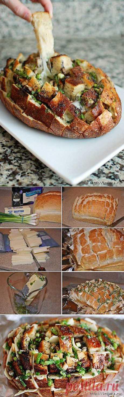 Ароматный «Сырный хлеб» в духовке.