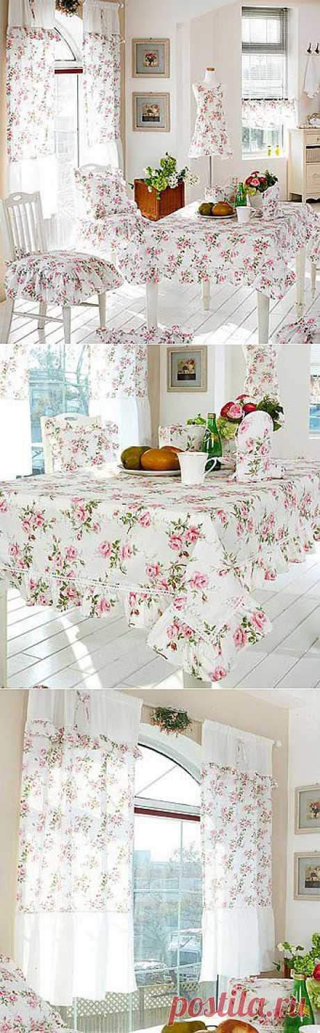 Текстильный дизайн кухни в стиле прованс - Учимся Делать Все Сами
