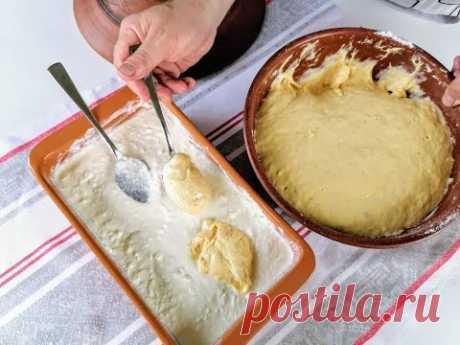 Болгарский старинный пирог из ложки! Готовится быстро, без замешивания с сырным вкусом!