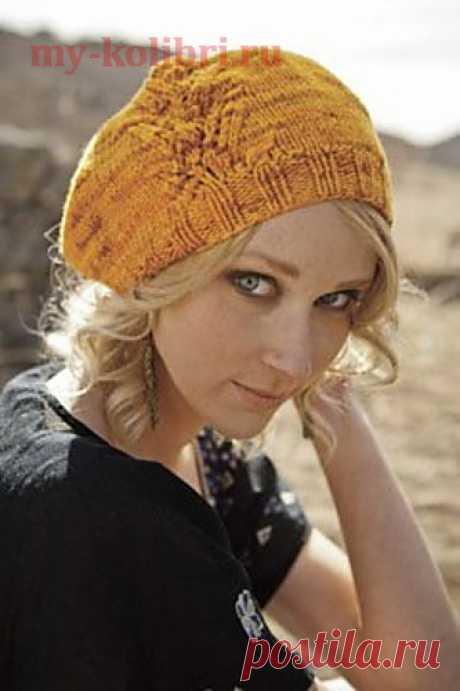 Модный берет спицами «Brazel» от дизайнера Katya Frankel.