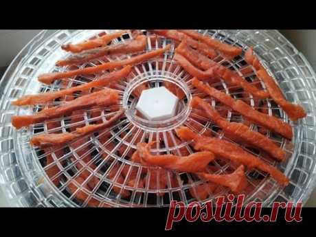 Закуска из красной рыбы  2в1, соленый и сушёный кижуч