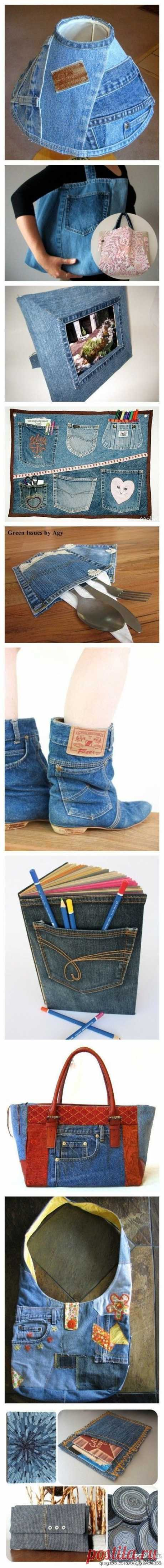 50 ідей повторного використання старих джинсів в інтер'єрі | Ідеї декору