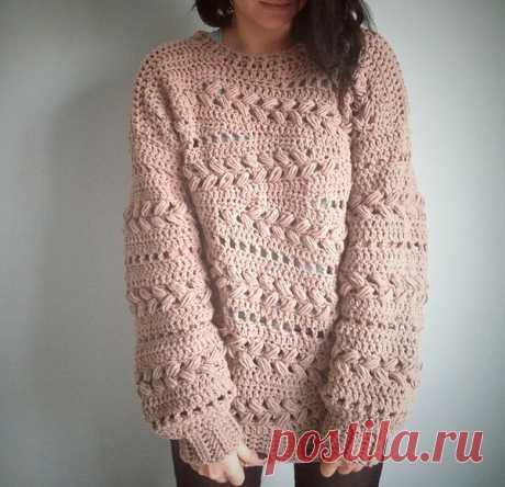 Пуловеры оверсайз крючком: 10 стильных идей | Вязаные радости | Яндекс Дзен