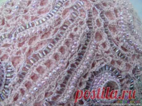 EASY WAY of KNITTING WITH BEADS WITHOUT THREADING - Beadwork - Needlework and creativity - Needlework