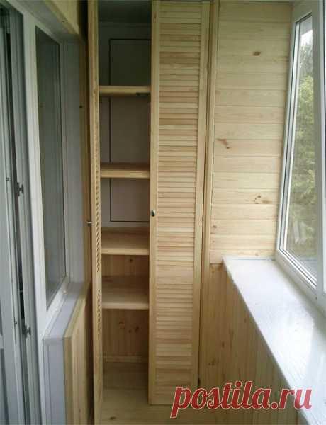 Как сделать шкафчики на балкон?