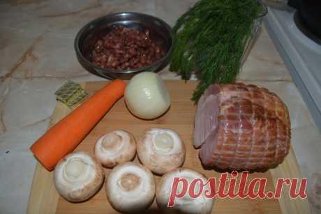 Простой и сытный фасолевый суп с грибами и копчёностями. Готовим за 20 минут | ПоедимКА | Яндекс Дзен