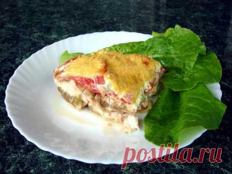 Курица с баклажанами и помидорами в духовке рецепт с фото пошагово - 1000.menu