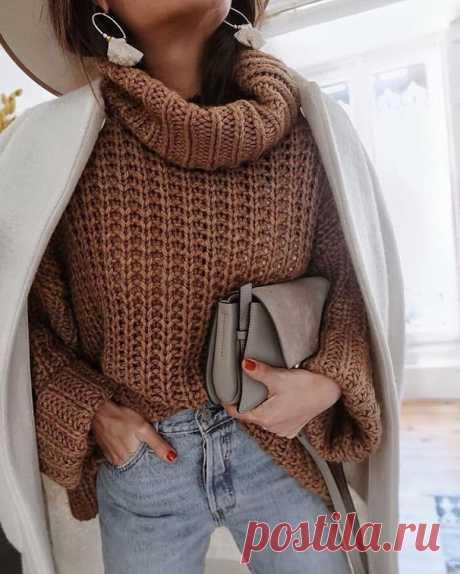 10 идей самых простых свитеров, которые можно связать за 2 вечера - идеально для новичков   Вязалушка   Пульс Mail.ru Вяжем быстро и просто.