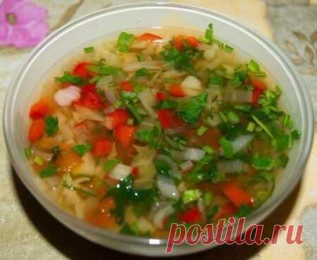 Овощной суп для худеющих.