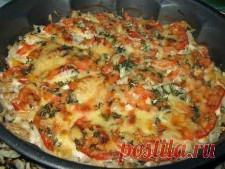 шеф-повар Одноклассники: Рыба запечённая с помидорами и сыром