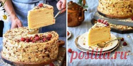 Торт с творожными коржами. Творожный «Наполеон»