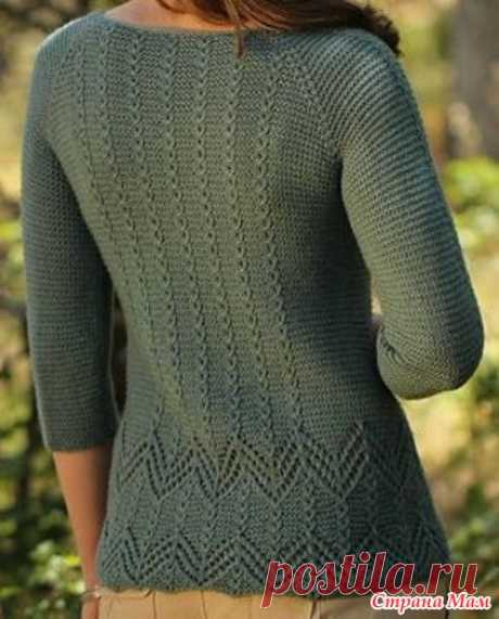 . An easy jacket spokes - Knitting - the Country of Mothers