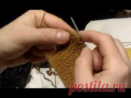 Новый способ закрытия петель. Вязание спицами.
