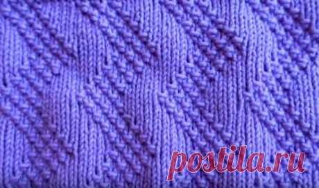 Простой, но очень красивый узор (Вязание спицами) – Журнал Вдохновение Рукодельницы