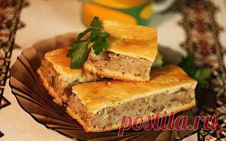 Пирог «Яворивский» с картофельно-гречневой начинкой. Пирог хорош как горячим, так и холодным.