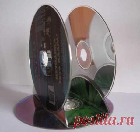 А у вас есть старые компакт-диски: из них можно сделать оригинальные вещи