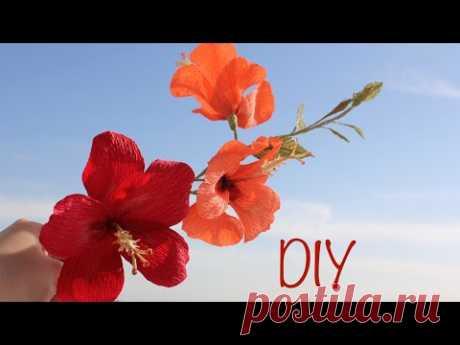 Как сделать Гибискус из гофрированной бумаги - запись пользователя Anna Makes Flowers (Анна) в сообществе Работа с бумагой в категории Другие поделки из бумаги и картона