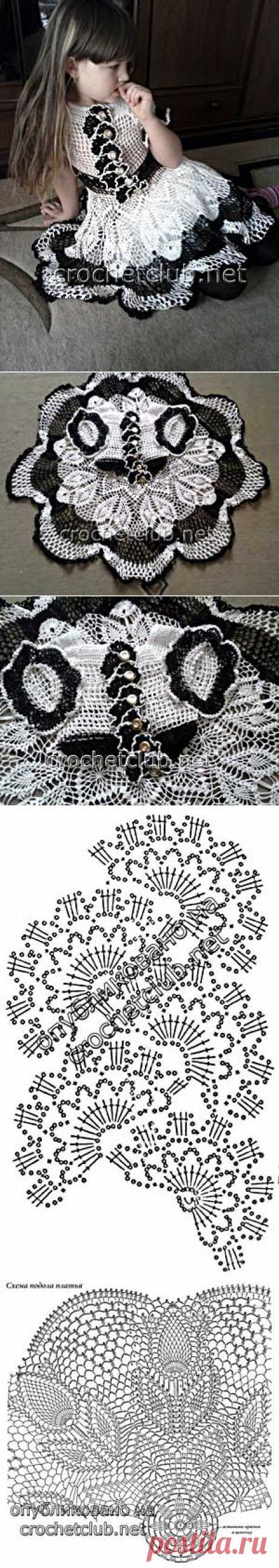 Вязаное платье для девочки - Вязание Крючком. Блог Настика