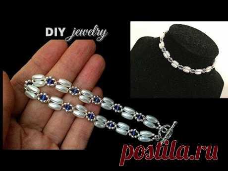 Beading tutorial. Beaded bracelet. Beaded necklace. easy beading pattern. DIY Jewelry