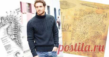 Разбор модели-мужской свитер с рукавом погоном