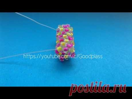 """Beadwork. Lessons for beginners. The lesson 3 """"мозаика Equipment on кругу"""".Мастер-класс."""
