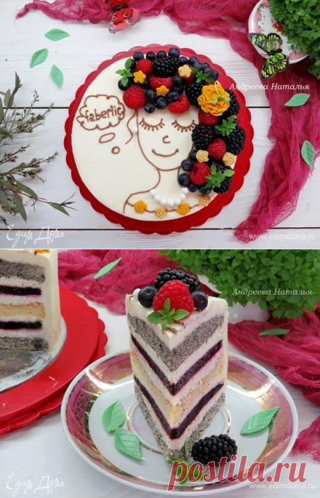 Ванильно-маковый торт «Ягодные мечты». Ингредиенты: яйца куриные, сахар, мука