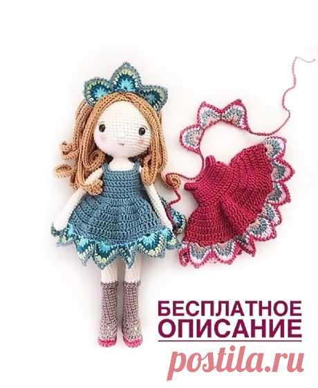 Кукла крючком Кукла крючкомПеревод от MyDearKnitting.
