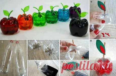 Маленькие ценности из ненужных пластиковых бутылок