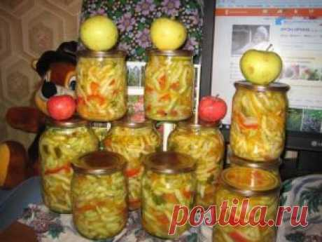 The best culinary recipes - Vegetable marrows salad in Korean for the winter