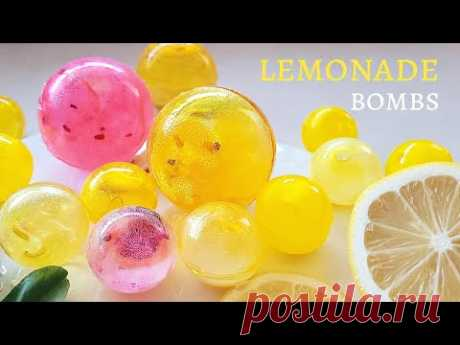 SHINY TEA BOMBS /LEMONADE BOMBS🍋  Tea bombs Using Hot Chocolate Bomb Molds   Tea Gloves