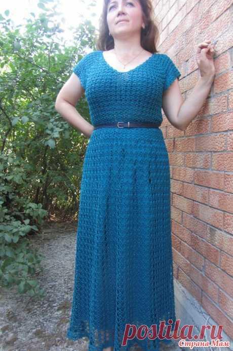 """. Платье """"Морская волна"""" Девочки-рукодельницы, всем привет!  Конкурс в группе""""Будь самой модной этим летом"""" завершен, голосование завершено и значит я могу показать вам свое новое платье."""