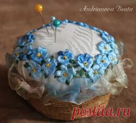 Игольницы, украшенные вышивкой лентами: идеи для вдохновения — DIYIdeas