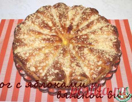 Пирог с яблоками и вяленой вишней – кулинарный рецепт