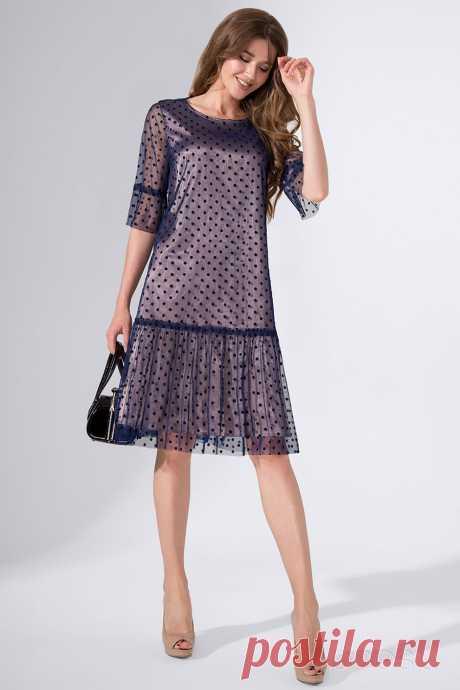 Платье Avanti Erika 572 синий-бронза