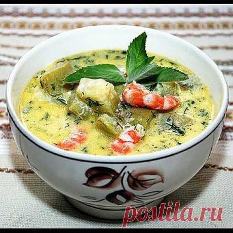 Холодный сырный суп