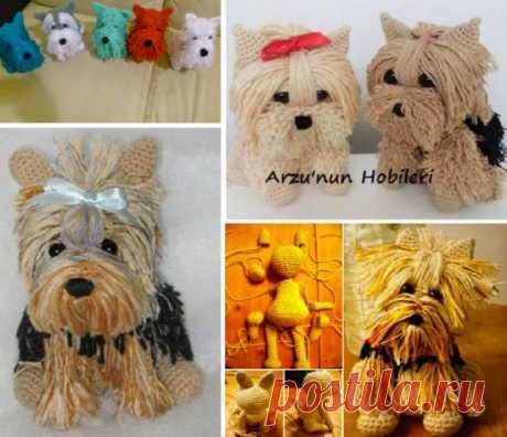 Бесплатная Схема Вязания Крючком Собака Йоркширский Терьер С Видео-Учебник | В WHOot