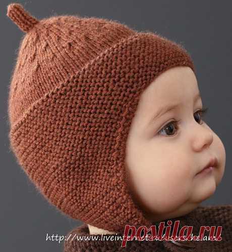 Детская шапочка с ушками (буденовка) из Phildar.